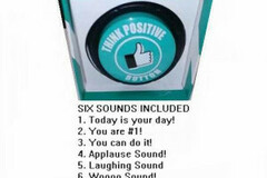 Buy Now: (50) Novelty Think Positive Button – 6 Sounds Pre-priced $10.00