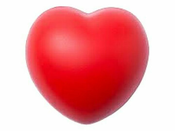 Buy Now: 144 Each - Novelty Heart-Shaped Stress Reliever Balls