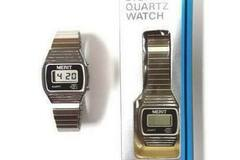 Buy Now:  Merit Men's Silver Retro Digital Quartz Watch – Needs New Batter