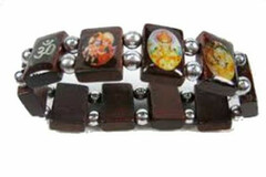 Liquidation/Wholesale Lot: 72 Bracelets - Buddha Stretchable Wooden Bracelet By Hot Topic