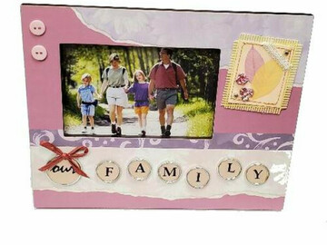 """Buy Now: 24 Frames - """"Our Family"""" Decorative Wooden Picture Frame"""