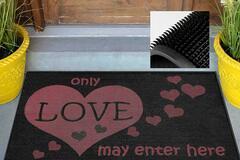 Buy Now: Heart Source – Love Print Indoor/Outdoor Welcome Mat (27.5″ X 18″
