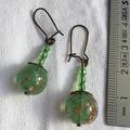 Vente au détail: Boucles d'oreilles perle en verre