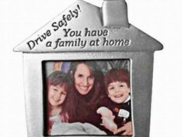 "Buy Now: 48 Pcs - Family Photo Visor Clip ""Drive Safely""–Cobble Creek"