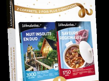 """Vente: e-Wonderbox """"Nuit insolite en duo"""" + """"Saveurs régionales"""" (115€)"""