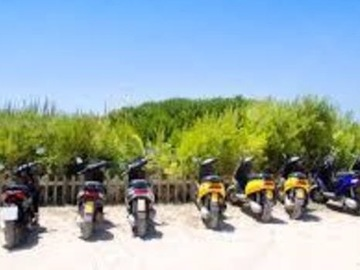 Daily Rentals: Beach Parking for Bikes and Mopeds