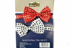 Buy Now: Cobble Creek Small Polka Dot Pet Bow Ties (2-Pack)