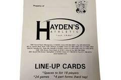 Buy Now: JUST IN TIME FOR BASEBALL SEASON!  Hayden's Athletic Line Up Card