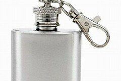 Buy Now: Stainless Steel KEY CHAIN Mini Flask 1.5 Oz