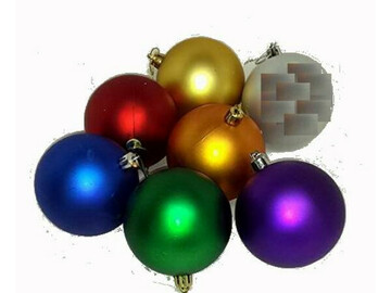 Buy Now: Assorted Color Shatter Resistant Christmas Ornaments Minor Blemis