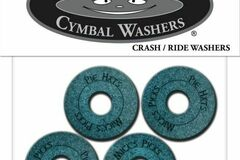 Selling with online payment: Pie Hats cymbal washers / crash & ride. 4 per pack FREE SHIPPING!