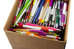 Buy Now: Bulk Lot Of Assorted Quality Blank Plastic Retractable Pens