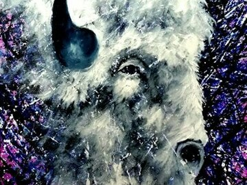 "Selling: White Buffalo.  Print - 11"" x 14"""
