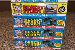 Buy Now: FIVE brand new cases (36 packs in box) Topp's Desert Storm cards