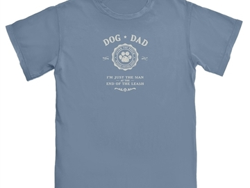 Selling: Dog Dad, I'm just the man at the end of the leash - Tshirt