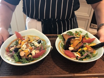 per person: FAMILY STYLE MEAL WITH A COOKING DEMO