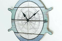 Buy Now: Sunbelt Gifts Coastal Round Ship Wheel Wood Wall Clock – Item #64