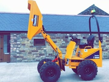 Daily Equipment Rental: 1 Tonne Hi Rise Dumper