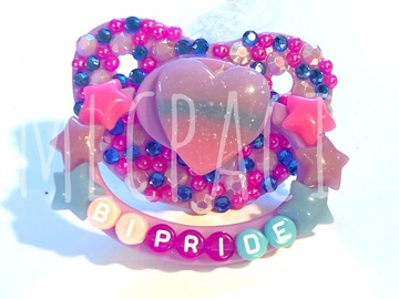 Selling with online payment: Bi Pride Adult Deco Pacifier