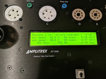 Audio-related Service for Fee: Vacuum Tubes Testing on Amplitrex AT1000 - max 10 tubes per order