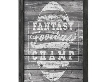 Buy Now: SunbeltGifts Fantasy Football Champ Wood Sign Decor – Item #4910-