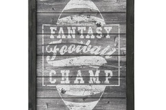 Buy Now: SunbeltGifts Fantasy Football Champ Wood Sign Decor – Item #4910-
