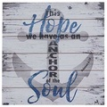 Buy Now: Sunbelt Gifts Coastal Anchor Of The Soul Wood Sign – Item #4910-2