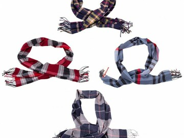 Buy Now: LOT OF MODA WEST  24 UNISEX CASHMERE SCARVES-NEW