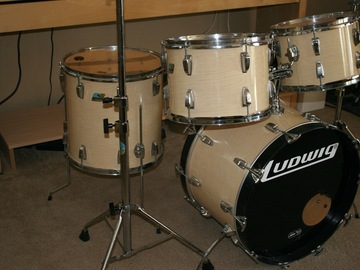 Selling with online payment: 1970's Ludwig Drum Set-Maple Cortex