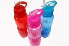 Buy Now: Bulk Lot Price – Colored Plastic Water Bottle, 18oz - 180 Bottles