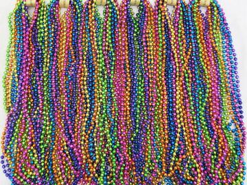 Compra Ahora: 1320 Pieces of Mardi Gra Beaded Necklaces