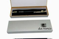 Buy Now: 50 Gift Sets - Black Matte Finish Metal Pens With Hook Top