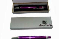 Buy Now: (50) Sleek Silver And Violet Metal Retractable Pen In A Gift Box