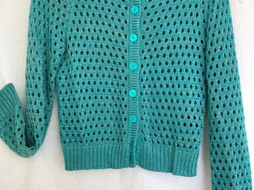 Selling: Aqua/gold knit cardigan