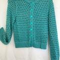 Selling: Aqua/gold knit cardigan