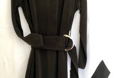 Selling: Olive silk dress with showstopper buckle