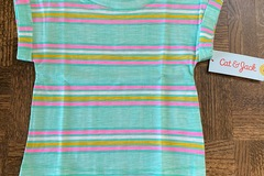 """Buy Now: Girls """"Cat & Jack"""" Short Sleeve Mint Stripe Top ALL SIZE 18 MOS"""