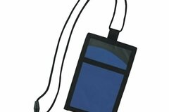 Buy Now: Cool Wave Neck Wallet-Breakaway Cord And Zippered Pocket – Blue