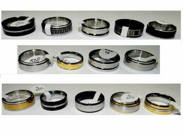 Buy Now: Men's Jewelry – Stainless Steel Assorted Fashion Rings (Size 9-12