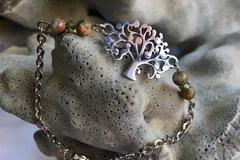 Vente au détail: Bracelet arbre de vie et jaspes