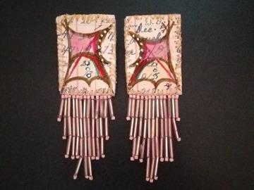 Selling: Antique Ledger art earrings