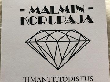 Ilmoitus: Erittäin näyttävä valkokultainen timantti-morganiittisormus