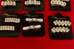 Buy Now: 600 pairs  (1200 pcs)-- Pearl Hair Barrettes  $ .33 pair
