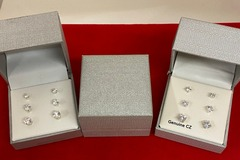Buy Now: 50 boxes-- Trio CZ Earrings (3 pairs)-- $1.99 per box