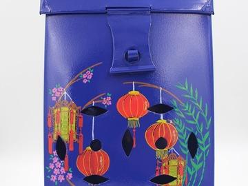 : Blue Mailbox with Lanterns design