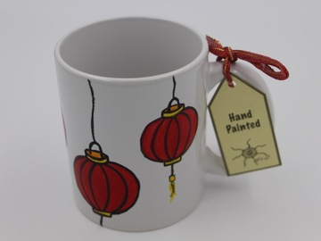 : Handpainted mug : Red Lanterns