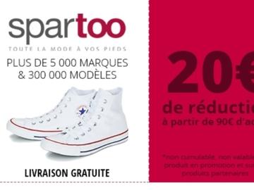 Vente: Bon de réduction Spartoo (20€)