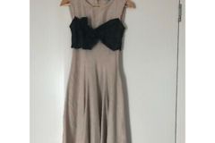 Selling: Gorgeous dress with black silk bow XS as new