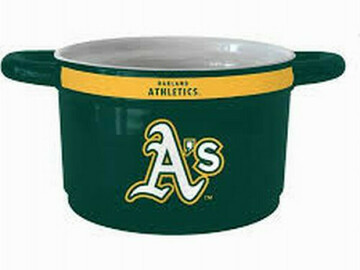 Buy Now: Licensed MLB St. Oakland Athletics Ceramic Game Time Chili Bowl