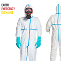 Instant Buy: Emergency-Aid Products: Protective Coverall CE/GB Certified Type 3 (1000 pcs via DHL)